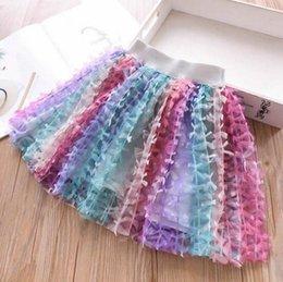 kids match tutu skirt 2019 - kids designer clothes girls Skirt all-match new arrivals Rainbow tutu skirts cute girl Summer solid color princess skirt