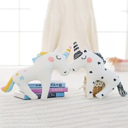 China Cute Animal Washable Unicorn Horn Sleep Pillow Baby Child Kids Plush Toy Lumbar Cushion Princess Doll Babies Lovely Toys cheap horn toys suppliers
