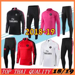 3642ab72f Best quality PSG adult Soccer tracksuit set 2018 2019 Paris tracksuits 18  19 MBAPPE LUCAS HOME Football jacket kit psg Training suit