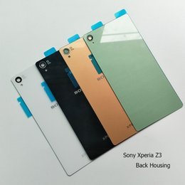 sony z3 parts 2019 - Sony Xperia Z3 Rear Glass Battery Housing Cover Back Door Replacement Spare Parts Case For L55T D6603 D6643 D6653 D6633