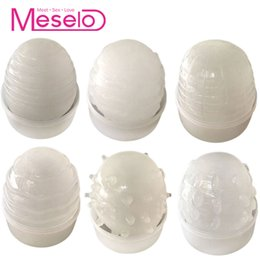 Vagina Toy Masturbating Man Australia - Meselo 6 Types Eggs Male Masturbator Silicone Artificial Vagina Pussy Thorns Penis Trainer Adult Sex Toys For Men Masturbating C19010501