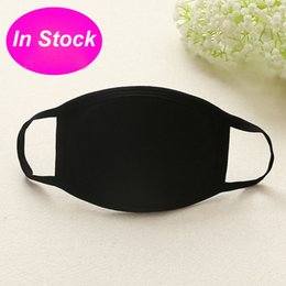 Wholesale 50pcs Anti-Dust Cotton Mouth Face Mask Unisex Man Woman Health Cycling Wearing Black Fashion High Quality Mouth-muffle