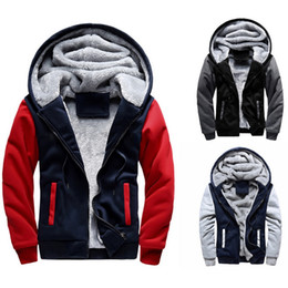 teenagers jacket NZ - Puimentiua Men Hoodies Sweatshirts Winter Warm Fleece Plus Size Hoodies Jacket Parkas Casual Streetwear Cardigan Coat Teenager