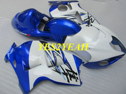 $enCountryForm.capitalKeyWord Australia - Injection Fairing body kit for SUZUKI Hayabusa GSXR1300 96 99 00 07 GSXR 1300 1996 2000 2007 Blue white Fairings bodywork+Gifts SG38