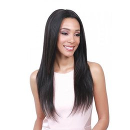 Style For Long Black Hair Australia - Black Long Silky Straight Wig Lady Hair Synthetic Hair Fiber Long Straight Hair High Temperature Fiber Medium Style For Daily Wear