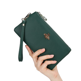 $enCountryForm.capitalKeyWord UK - Women Clutch Bags Thin Long Wallet Cow Genuine Leather Card Package Lady Wallet Bank Credit Card Holder