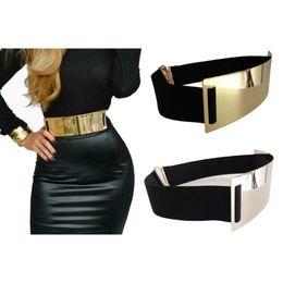 Wide red elastic belt online shopping - Hot Designer Belts For Woman Gold Silver Brand Classy Elastic Ceinture Femme Color Belt Ladies Apparel Accessory Bg C19041501