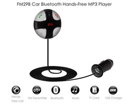 usb displays Canada - Car Bluetooth Charger 5V 2A USB Charging Output Hands-Free FM Transmitter Adjustable Angle Digital LED Display FM29B DC 12 - 24V