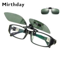 a9e5913e654a Unisex Polarized Clip On Sunglasses Near-Sighted Driving Night Vision Sun  Glasses Anti-UVA Anti-UVB Flip Up Myopia Glasses