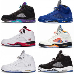 Mesh fire online shopping - Mens s V International Flight Basketball Shoes White Cement OG Black camo grey red blue Suede Fire Red trainers Sport Sneakers