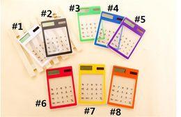 $enCountryForm.capitalKeyWord UK - New Creative Gifts Mini Calculator Ultra Slim Solar Power Touch Screen LCD 8 Digit Credit Card Electronic Transparent Calculator