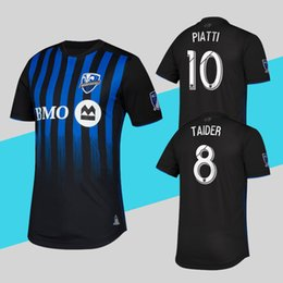 More Anti UK - Player Version Montreal Impact Jersey MLS 2019 Home Blue Black Soccer Shirt PIATTI More 10pcs Free DHL Shipping