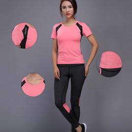 Yoga Pants Shirt NZ - Oloey Women Tennis Clothes Yoga Set Badminton Clothing Fitness Running Shirt+pants Quick Dry Gym Workout Jogging Sport Suit Q190517