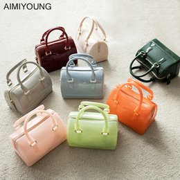 lights for cell phones 2019 - AIMIYOUNG Women Handbags Small Jelly Tote Candy Color Crossbody Bags For Women Messenger Bags Summer Shoulder Bag Bolsa