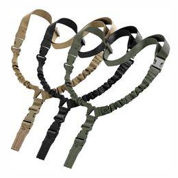 ar 15 accessori M4 tattico americana 1 un punto imbracatura regolabile singolo punto tracolla fucile per airsoft caccia in Offerta