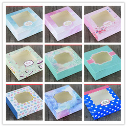 Cupcake Muffins Cake Australia - 20pcs lot New Arrival Kraft Cake Box with pvc window Muffin Biscuit Packaging Box Gift for Cupcake Cookies Small Paper Boxes