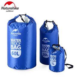 Naturehike Viaje al aire libre Ropa impermeable Bolsa de almacenamiento de cosméticos Bolsa seca de PVC con ventana Natación Rafting 5L 20L 60L # 266390