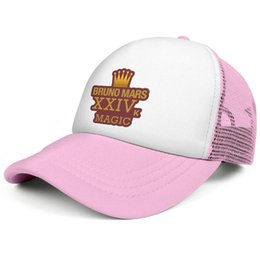$enCountryForm.capitalKeyWord Australia - Bruno Mars Magic XXIVK pink men and women baseball plaid hat cool designer golf design yourself retro cute fashion original cap