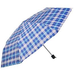 Women Sunshade Windproof Printed Umbrella Outdoor Portable Three Folding Plaid Umbrella Plain Folding Umbrellas DH1389 on Sale
