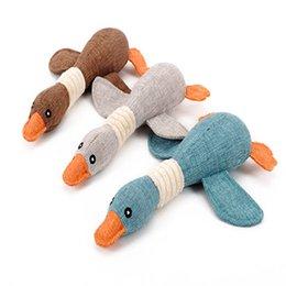 Animal de estimação serapilheira brinquedo pato pato de serapilheira para a mordida de cão vocal pato selvagem Squeaker cat Squeaky Plush Sound toy venda por atacado