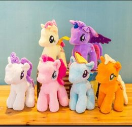 ty plush toys wholesale UK - 18 cm Cartoon TY Beanie Boo Big Eyes Pony Unicorn Plush Toys Brinquedos Stuffed Toys Gift For Children
