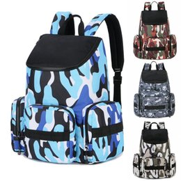 $enCountryForm.capitalKeyWord NZ - New Camouflage Basketball Backpack Fashion Brand Mens Womens Designer Bags Students Sport Outdoor Bags 4 Colour