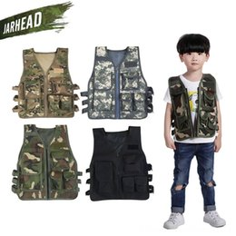 children camouflage hat Canada - Army Fans Outdoor Children Boy Girl Vest Camouflage Kids Tactical Vests Tactical Clothing Clothing Hunting Cosplay Fishing CS Game Vest