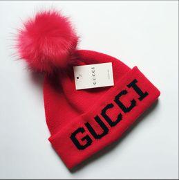 $enCountryForm.capitalKeyWord Australia - New Women's Fashion Knitted Cap Autumn Winter Men Cotton Warm Hat Brand Heavy Hair Ball Twist Beanies Solid Color Hip-Hop Wool Hat 03