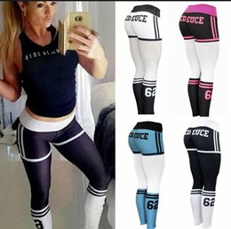 White Letter Print Leggings Australia - 2019 Yoga Pants Women High Waist Print Letter Pattern Sports Leggings Push Up Sexy Workout GYM Running Tights Sportswear Fitness #73736