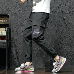 Опт Fairy2019 За рубежом Креста мужская одежда Осень Новый Узор Человек Японская Мода Motion Свободное Время Брюки Молодые Студенты