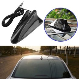 radio antenna auto NZ - Universal Shark Fin Type Antenna Aerial Signal Car Auto SUV Roof Special Radio FM Car-styling Free Shipping