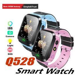 $enCountryForm.capitalKeyWord Australia - Q528 GPS Children Smart Watch Anti-Lost Flashlight Baby Smart Wristwatch SOS Call Location Device Tracker Kid Safe vs Q750 Q100 DZ09 U8