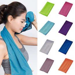 cooling towels NZ - Soft anti-static breathable cold pad sports cooling towel long-lasting running jogging gym immediately cold