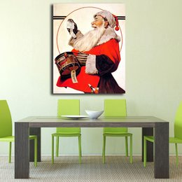 $enCountryForm.capitalKeyWord Australia - Norman Rockwell's Santa Clous Comic Art Anime Canvas Poster Painting Wall Picture Print Home Bedroom For Living Room Decoration