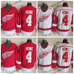 detroit red wing jerseys 2020 - Mens Detroit Red Wings #4 Mark Howe Jersey Vintage Home Red Mark Howe Stitched Hockey Jerseys Cheap M-XXXL cheap detroit