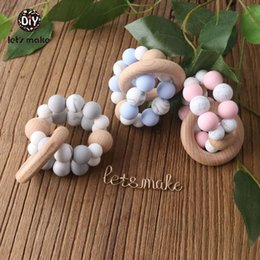 $enCountryForm.capitalKeyWord Canada - Let's Make Chew Silicone Teether Beads Candy Color Bracelet Silicone Rattle Teething Beads Soother Chain Nursing Pendants
