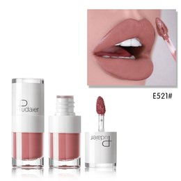 $enCountryForm.capitalKeyWord Australia - Pudaie Makeup16 color small white bottle Matte lip gloss Lasting Moisturizing Waterproof Non-stick Cup Lipgloss