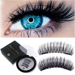 $enCountryForm.capitalKeyWord Australia - 3D Magnetic Eyelashes False Eyelashes on The Magnet Double Magnet Full Strip Magnetic Lashes Soft Hair Reusable Fake Eye Lashes
