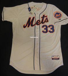 Matt Baseball NZ - Cheap Retro Top Majestic #33 MATT HARVEY New York Home White Jersey 48 XL NWT deGrom Mens Stitched Baseball jerseys