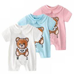 White Tutus For Girls UK - Retail high quality baby robes cotton cartoon style boy clothes newborn baby girl clothing infant jumpsuit for baby clothes