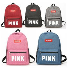 $enCountryForm.capitalKeyWord Australia - Pink Letter Backpack Women Girls Shoulder Bags Students Teenager School Book Bag Backpacks Schoolbag Travel Sports Bags Rucksack Hot sell
