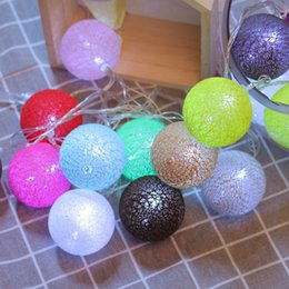 String Red Star Lights NZ - Border Lights Network Red Girl Atria Between Bedroom Decoration All Over The Sky Led Stars Lamp Sepaktakraw Cotton Round Ball Lamp String