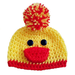 $enCountryForm.capitalKeyWord UK - Lovely Knit Little Duck Hat,Handmade Crochet Baby Boy Girl Animal Hat,Infant Earflap Winter Beanie,Newborn Toddler Photography Prop