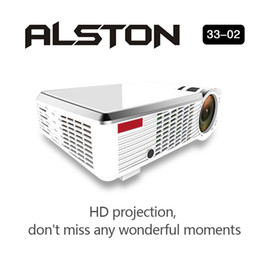 Proyector Wifi Australia - ALSTON 3302 LED Projector HD 1280x720 Android Projector HDMI 3D Home Cinema Proyector With WIFI Bluetooth