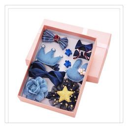 AsiAn girl blue hAir online shopping - Hot Sale Girls Hair Clips Set Bowknot Crown Hair Barrette Hairpin Hair Accessories for Toddles Gift Box