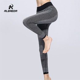 $enCountryForm.capitalKeyWord NZ - ALBREDA Women Elastic High Waist Yoga Pants Fitness Bodybuilding Lady Yoga Sport Leggings Running Trousers Quick dry Tights pant #20069
