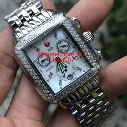 Mop diaMond online shopping - Luxury Brand Watch Michele Signature DECO Diamonds MOP Shell Dial Diamond Mark Quartz Movement Watch Women s MWW06P000099 Lady Watches mm