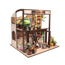 Toys & Hobbies Nice Miniature Large Villa Hand-assembled Wooden Diy Decorations,gifts,home Placement,collection Doll House Products Hot Sale Doll Houses