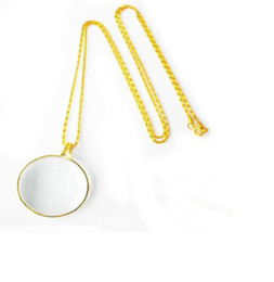 $enCountryForm.capitalKeyWord UK - Six times zinc alloy necklace, reading and reading newspaper-hanging magnifier gifts for parents and old people