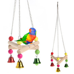 real beds NZ - Lovely Real Pets Bird Parrot Triangle Swing Parrot Wooden Crane Bed Swing Position Hang Toys